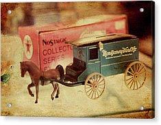 Little Stagecoach Acrylic Print by Toni Hopper
