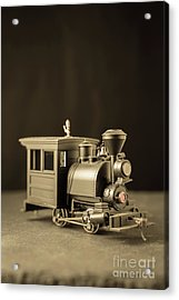 Acrylic Print featuring the photograph Little Steam Locomotive by Edward Fielding