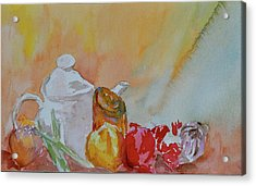 Acrylic Print featuring the painting Little Still Life by Beverley Harper Tinsley