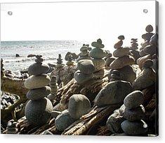 Little Stone Sculptures Acrylic Print