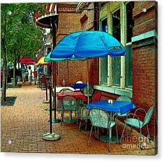 Acrylic Print featuring the painting Little Street Cafe by Elinor Mavor