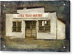 Little Texas Grocery Acrylic Print by Bellesouth Studio