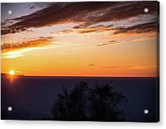 Acrylic Print featuring the photograph Little Traverse Bay Sunset by Onyonet  Photo Studios