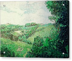 Little Tuscan Valley Acrylic Print by Jason Charles Allen