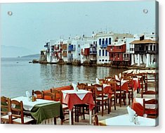 Little Venice On Mykonos Acrylic Print by Peter Mooyman