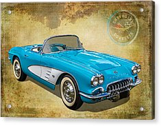 Little Vette Acrylic Print by Keith Hawley