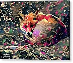 Little Vixen Acrylic Print by Bunny Clarke