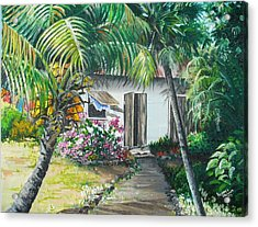 Little West Indian House 2...sold Acrylic Print by Karin  Dawn Kelshall- Best