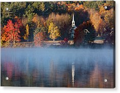 Acrylic Print featuring the photograph Little White Church On Crystal Lake by Jeff Folger
