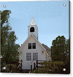 Little White Church Acrylic Print by Walter Chamberlain