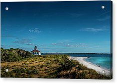 Little White Lighthouse Acrylic Print by Marvin Spates