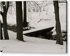 Little Winter Crossing Acrylic Print by Debra     Vatalaro