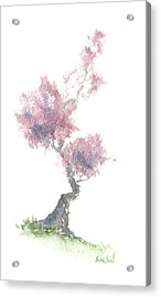 Little Zen Tree 1981 Acrylic Print by Sean Seal