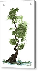 Little Zen Tree 207 Acrylic Print