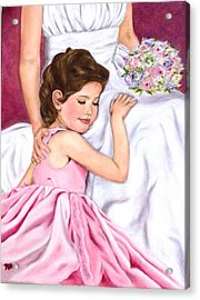 Littlest Wedding Belle Acrylic Print