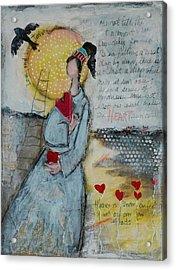 Live Joyfully  Acrylic Print by Sharon Furner