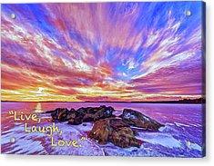Live, Laugh, Love Acrylic Print