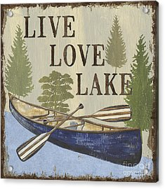 Live, Love Lake Acrylic Print by Debbie DeWitt