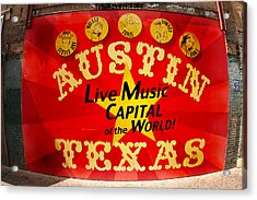 Live Music Mural Of Austin Acrylic Print