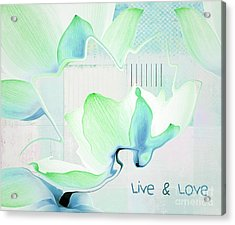 Acrylic Print featuring the photograph Live N Love - Absf15 by Variance Collections