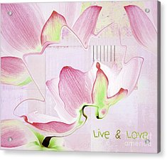 Acrylic Print featuring the digital art Live N Love - Absf17 by Variance Collections