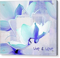 Acrylic Print featuring the photograph Live N Love - Absf43 by Variance Collections