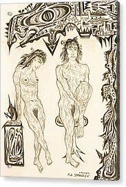 Live Nude 10 Female Acrylic Print by Robert SORENSEN