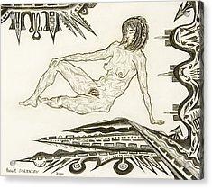 Live Nude 4 Female Acrylic Print