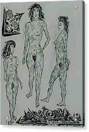 Live Nude 41 Female Acrylic Print by Robert SORENSEN