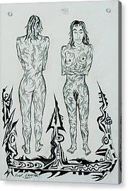 Live Nude 43 Female Acrylic Print by Robert SORENSEN