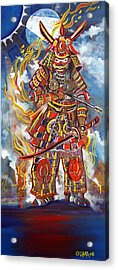 Live Samurai Acrylic Print by Ottoniel Lima