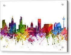 Liverpool England Cityscape 06 Acrylic Print