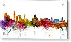 Liverpool England Skyline Panoramic Acrylic Print