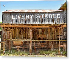 Livery Stable Acrylic Print by Ray Shrewsberry