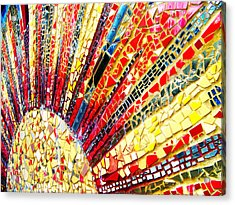Living Edgewater Mosaic Acrylic Print by Kyle Hanson