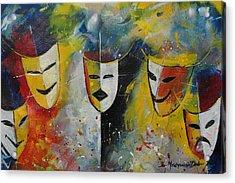 Living Masks Acrylic Print