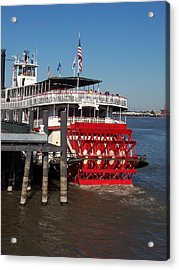 Living On The Mississippi Acrylic Print by William Albanese Sr