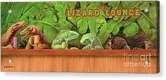 Lizard Lounge... Acrylic Print by Will Bullas