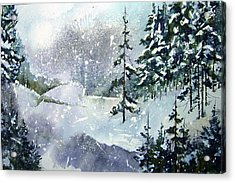 Lket It Snow - Let It Snow Acrylic Print by Wilfred McOstrich
