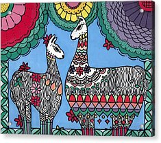 Llama Mama Acrylic Print