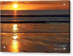 Llangennith Beach Sand Textures Acrylic Print
