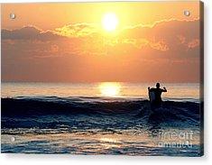 Llangennith Last Wave Acrylic Print