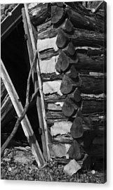 lloyd-shanks-barn-3BW Acrylic Print by Curtis J Neeley Jr