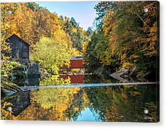 Mcconnell's Mill And Covered Bridge Acrylic Print