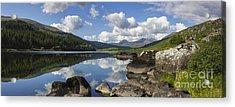 Llyn Mymbyr And Snowdon Panorama Acrylic Print