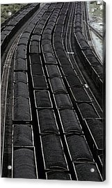 Loaded Coal Cars Sit In The Rail Yards Acrylic Print by Everett