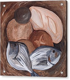Loaves And Fishes Acrylic Print by Chelle Fazal