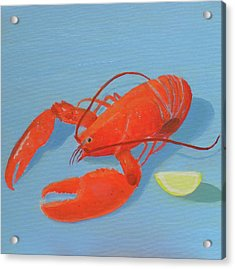 Lobster And Lemon Acrylic Print