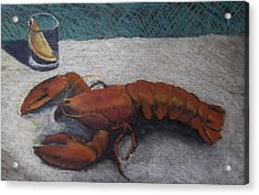 Lobster  Acrylic Print by Becky Chappell