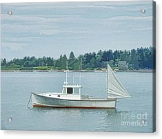 Lobster Boat Harpswell Maine Acrylic Print